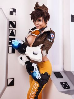 Christina Fink as Tracer (Overwatch)