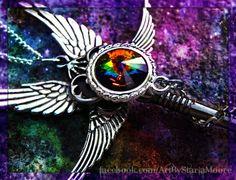 Celestial Guardian Fantasy Key by ArtbyStarlaMoore on Etsy, $35.00