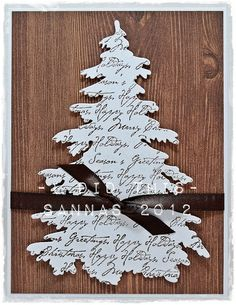 Use old Christmas cards or other printed paper to make trees Christmas Porch, Christmas Crafts, Christmas Ideas, Die Cut Cards, Heron, Christmas Inspiration, Winter Holidays, Card Making, Presents