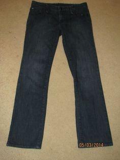 ARMANI EXCHANGE A/S Dark Wash Black Crystal Jeans AUTHENTIC 6 S #ArmaniExchange #StraightLeg