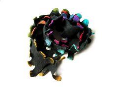 Felted necklace felted scarf felted collar by MarlenaRakoczy