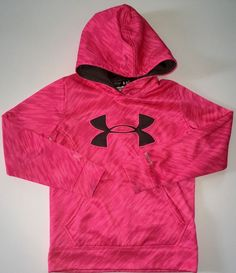Under Armour Hoodie Sweatshirt Hot Pink Storm Breast Cancer YXS Youth XS Girls | eBay