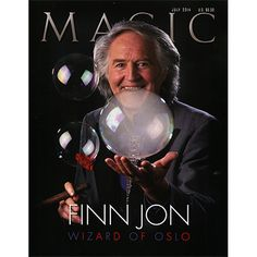 Magic Magazine July 2014 - The Wonderful Wizard of Oslo Floating balls, dancing neckties, smoke-filled soap bubbles, and other animated objects have helped make Finn Jon's reputation as an innovative illusionist for the past half century. Finn Jon is a creative conjuror unlike any other, onstage and off. Greg Wilson and the Golden Age of Magic When Disney Studios planned to showcase get it here: http://www.wizardhq.com/servlet/the-17205/magic-magazine-july-2014/Detail?source=pintrest