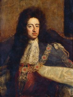 с.1695-с.1700.William III in robes of the Order of the Garter.Godfrey Kneller  (1646-1723)oil on fresco. Royal Collection.