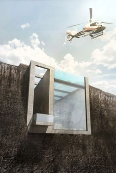 """OPA's Casa Brutale (aka """"The Edge"""") - an inverted version of Casa Malaparte, still in concept design looking for an investor. 