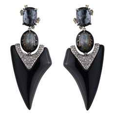 Alexis Bittar Abstract Thorn Clip Earring ($395) ❤ liked on Polyvore featuring jewelry, earrings, black, handcrafted jewellery, clip on earrings, handcrafted earrings, alexis bittar and hand crafted jewelry