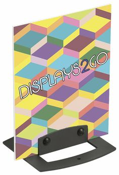 Sign Clamp for Countertop or Wall Mount, Vertical or Horizontal Orientation - Gray Business Card Displays, Door Plaques, Vertical Or Horizontal, Wayfinding Signage, Sign Design, Clamp, Wall Signs, Wall Mount, Countertops