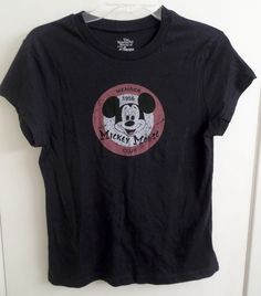 Mickey Mouse Club Junior Girls Shirt L Large 11/13 Wonderful World of Disney  #Disney
