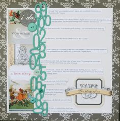 I freely admit that journaling is perhaps my least favorite part of scrapbooking.  (Cleaning up afterwards is up there on that list too!)  It's not that I don't want to record or docume…