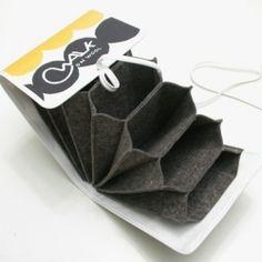 Walkcollection's needle case - for circular knitting needles - made of felt and Marimekko cotton