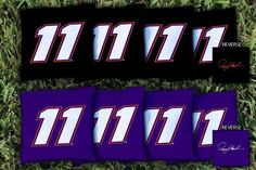 Cornhole Bag Set, Corn-Filled - NASCAR #11 Denny Hamlin