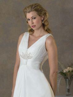 V-Neck A-Line Wedding Dress