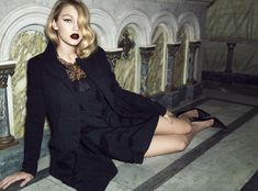 gigi hadid lita mortari fall 2014 5 Gigi Hadid Gets Dark & Glamorous for Lita Mortari F/W 2014 Campaign