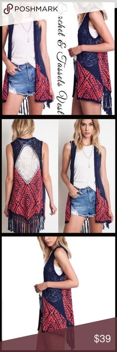 Crochet Back Knit Vest Crochet Back Knit Vest.  @C2 Boutique Other