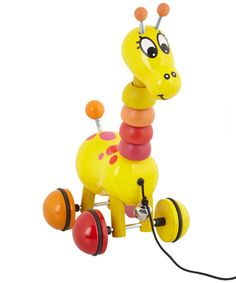 Paf the Giraffe Wooden Pull Along Toy, Vilac