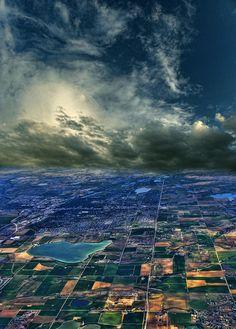 ✯ Beautiful Aerial - Great Clouds!