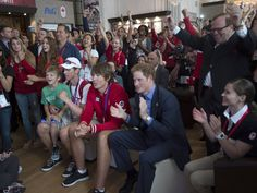 Prince Harry visiting Canada Olympic House.