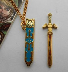 THE Legend OF Zelda Anime Skyward Sword Cosplay Necklace Gold Free Shipping | eBay OMG!!!!
