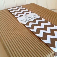love this chevron paper wrap for notebook etc