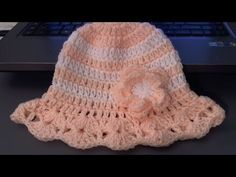 How to crochet baby / childs hat for summer (tambien en Espanol) - YouTube