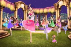 Love this! Dancing on special magic tiles makes a secret passageway to magical hideaway to dance! Sounds amazing!! Barbie in The Twelve Dancing Princesses is awesome!!