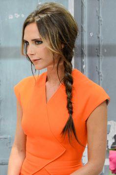 Victoria Beckham: Hair Style File - side plait