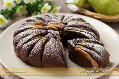 Torta di pere e cioccolato made it today and is amazing! Sweet Recipes, Cake Recipes, Dessert Recipes, Italian Desserts, Italian Recipes, Dessert Sauces, Sweet Cakes, Something Sweet, Creative Food