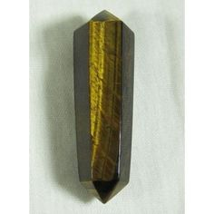 Tigers-Eye Double Terminated Wand