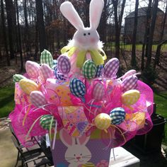 Easter basket centerpiece craft ideas pinterest easter easter basket centerpiece negle Choice Image