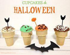Cupcakes de #Halloween ideal para celebrar con los niños! #recetas #cupcakes