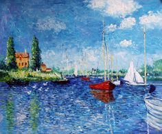 Claude Monet ~  Red Boats of Argenteuil