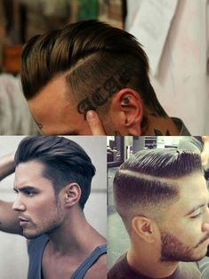 Men Hairstyles 2014. So sexy. Short on the bottom, long on top. Very old school style, with a modern feel.