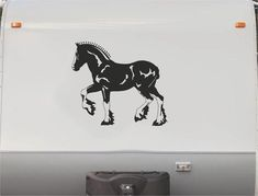 Equestrian Horse Trailer Vinyl Decals Enclosed Trailer Stickers Graphics Mural 248