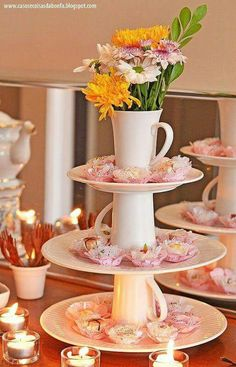 70 new ideas for party table centerpieces diy dollar stores bridal shower Decoration Table, Table Centerpieces, Wedding Centerpieces, Centrepieces, Bridal Shower, Baby Shower, Deco Floral, High Tea, Dessert Table