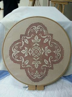 This Pin was discovered by Emr Hardanger Embroidery, Embroidery Art, Embroidery Stitches, Drawn Thread, Thread Work, Different Stitches, Filets, Lace Making, Bargello