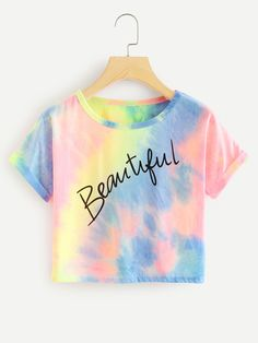 Slogan Print Water Color Cuffed Tee Slogan Print Water Color Cuffed TeeFor Women-romwe No related posts. Kids Outfits Girls, Cute Girl Outfits, Girls Fashion Clothes, Teenager Outfits, Teen Fashion Outfits, Cute Casual Outfits, Emo Fashion, Fashion Photo, Trendy Fashion
