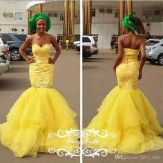 Glorious Yellow Sweetheart Neck Prom Dresses For African Brazil Women Puffy Mermaid Skirt Tulle Beads Long Backless Party Evening Gown Prom Dress Shoes Prom Dress Websites Uk From Fairy_lady, $132.9| Dhgate.Com