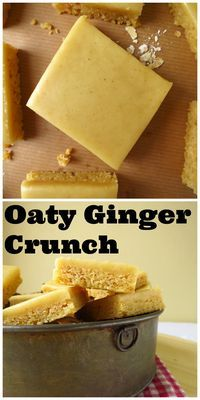 Oaty Ginger Crunch - a must try New Zealand treat! Kiwi Recipes, Sweet Recipes, Lunch Recipes, Vegan Recipes, New Zealand Food, How Sweet Eats, Tray Bakes, Food Processor Recipes, Food To Make
