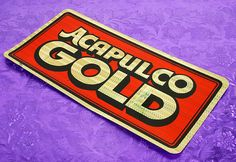 ACAPULCO GOLD 70s New Old Stock Bumper Sticker.  I bought boxes of these crazy, colorful stickers back in the mid 80s, passed some out to friends