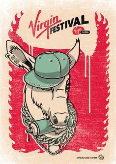 Virgin Festival by Am I Collective , via Behance
