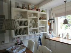 Plate Racks, My Dream Home, Bookcase, Shelves, Plates, Cupboards, Vintage, Kitchens, Home Decor