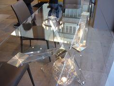 Tavolo in Cristallo modello Shangai Riflessi | Tavoli da Pranzo ...