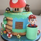 Sunday Sweets: More Mario Mania — Cake Wrecks Unique Birthday Cakes, Unique Cakes, Creative Cakes, Fabulous Birthday, Crazy Cakes, Fancy Cakes, Bolo Do Mario, Bolo Super Mario, Cake Wrecks