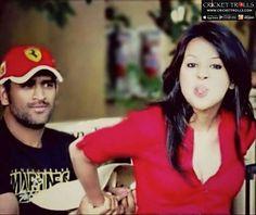 MS Dhoni with his better-half Sakshi Dhoni - http://ift.tt/1ZZ3e4d