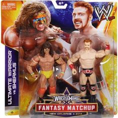 WWE WrestleMania Ultimate Warrior vs. Sheamus Battle Pack Action Figures, 2-Pack, Multicolor