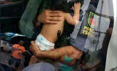 Homem rouba carro com bebê dentro e capota após perseguição policial