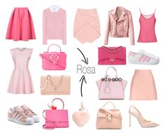 """Pink"" by atypicalmode on Polyvore featuring moda, MSGM, TIBI, Chanel, Roger Vivier, Jimmy Choo, adidas Originals, Altuzarra, Massimo Alba e adidas"