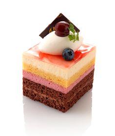 varias capas de pastel