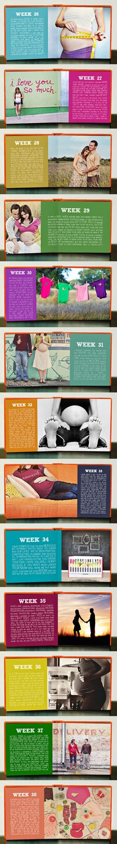 Since I missed the whole pregnancy thing, I'd love to document her week by week progress.