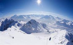 St. Anton, Austria view